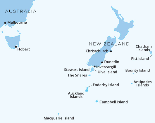 New Zealand Sub Antarctic Islands