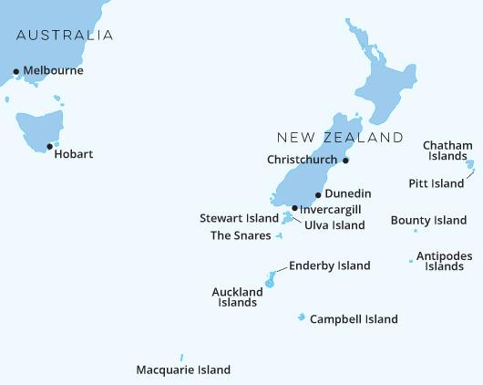 New Zealand Sub Antarctic Islands