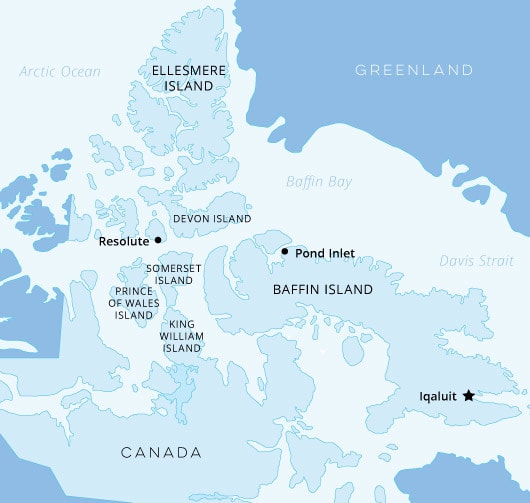 Canadian High Arctic Map