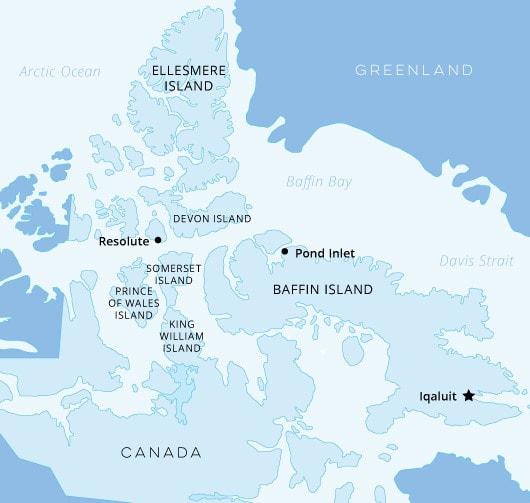 Canadian High Arctic Map