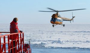 helicopter sightseeing North Pole 50 Years of Victory