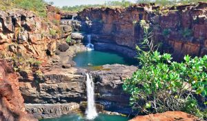 Cascading Mitchell Falls Kimberley Region in North Western Australia