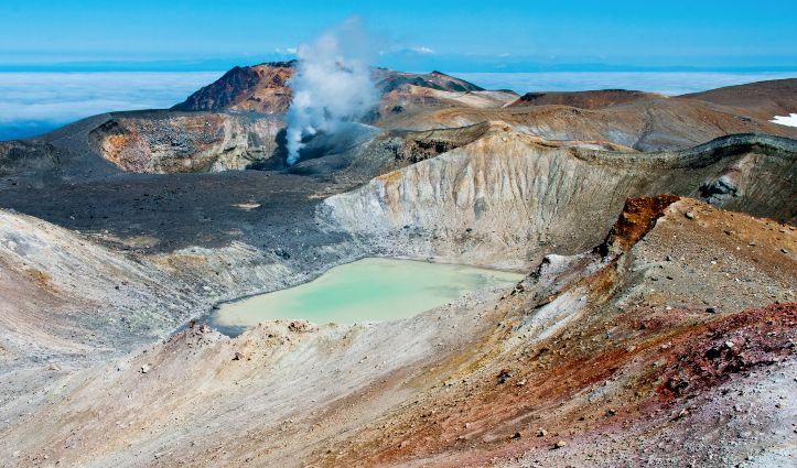Ebeko Volcano, Paramushir Island, Kuril Islands