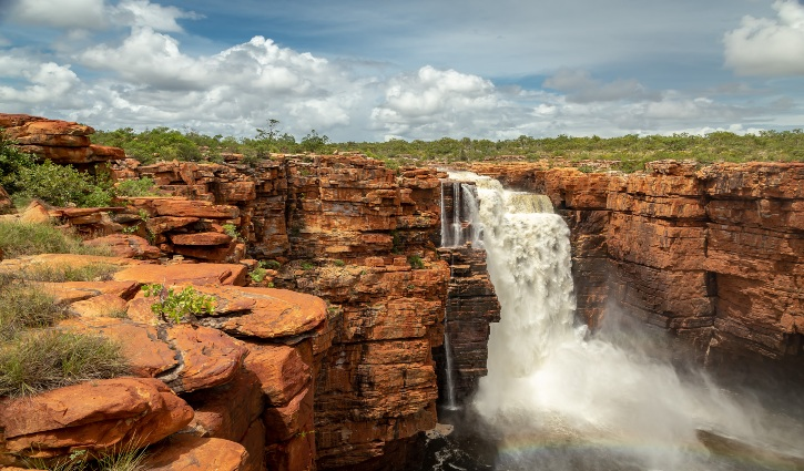 King George Falls in flood, Kimberley, Australia