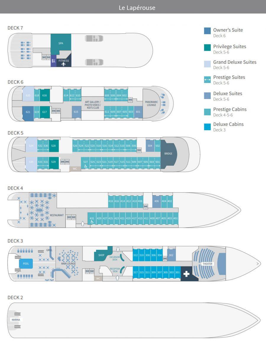 Le Laperouse Deck Plan