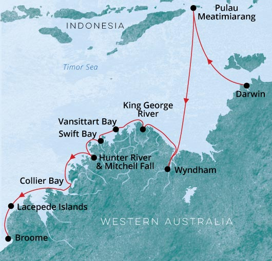 Le Laperouse Ponant Darwin to Broome