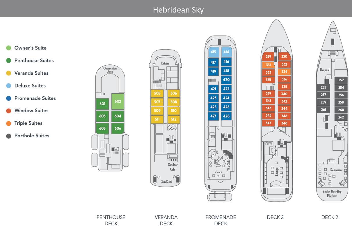 Deck Plan Hebridean Sky