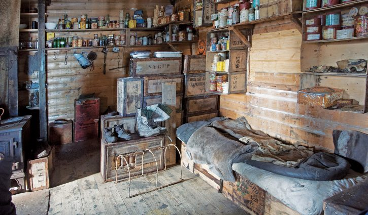 Heritage Expeditions: Shackleton's Hut interior