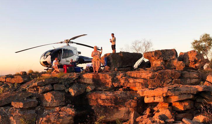 Heli Sunset Kimberley
