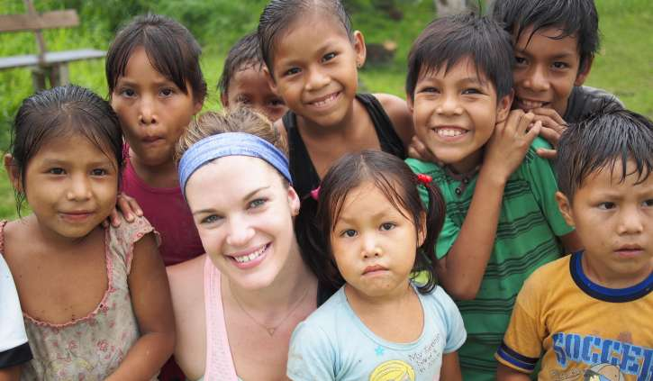 Hayley with Amazonian Locals