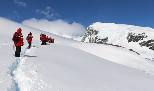 Hike at Cuverville Island, Antarctica
