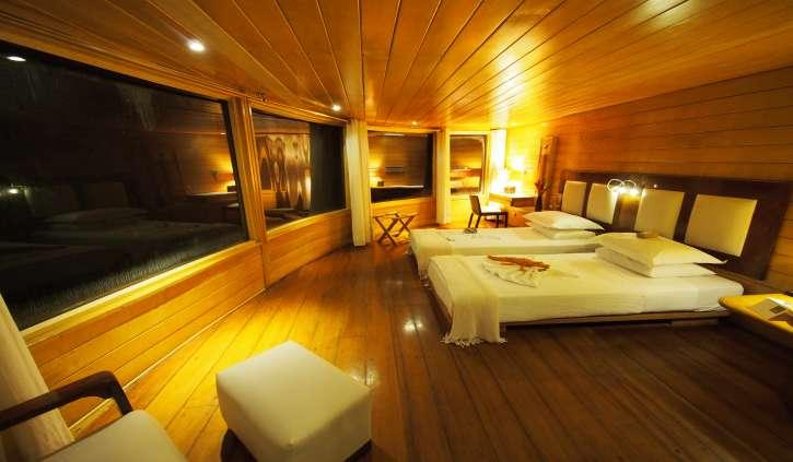 My room on board the Delfin II