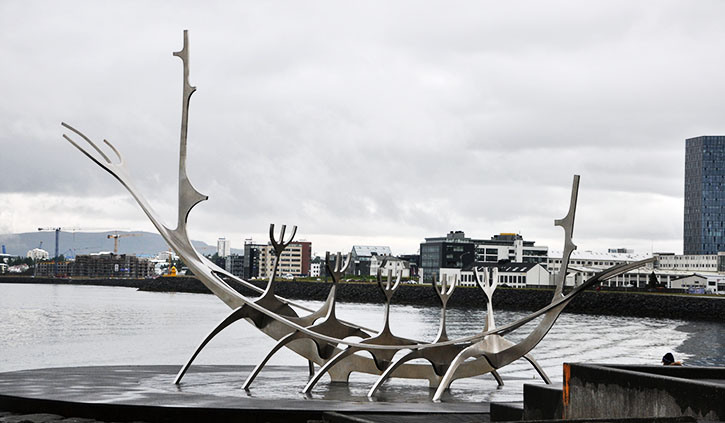 Sun Voyager Viking Steel Sculpture