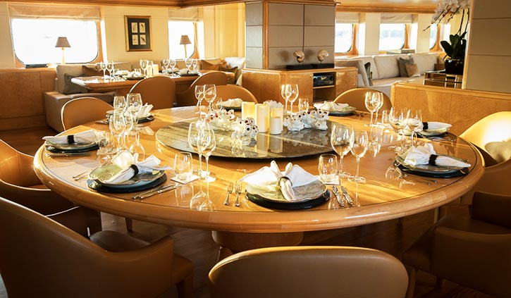 Aqua Blu Dining Room