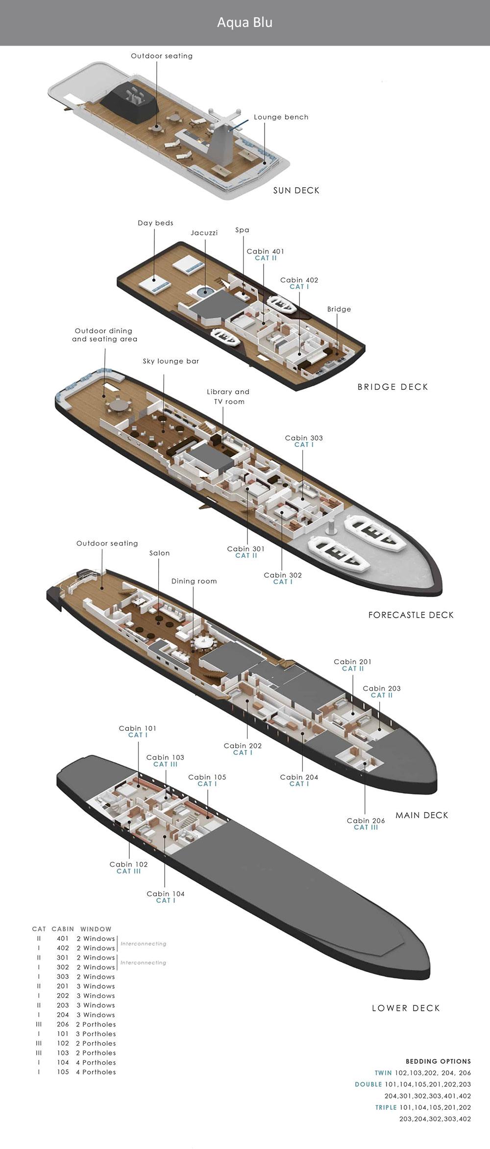 Aqua Blu Deck Plan